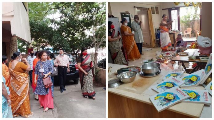Chennai napatrika snan on the morning of Mahasaptami